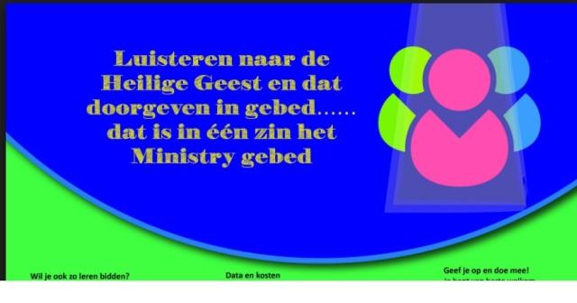 Ministry gebed - VBG de Regio