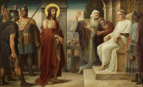 Jezus voor Pilatus - holyhome.nl