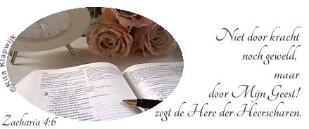 Niet door kracht - Zacharia 4-6 Quqlity time - blogger