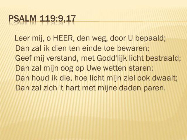 Psalm 119 - Leer mij, o Heer, de weg door U bepaald - v2 SlidePlayer