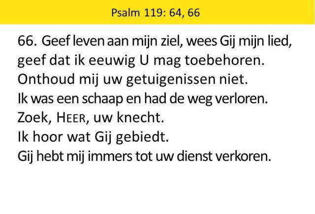 Psalm 119 vers 64 - zoek Heer uw knecht - SlidePlayer