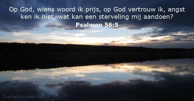 psalmen-56-5 - vrees voor mensen - DailyVerses.net