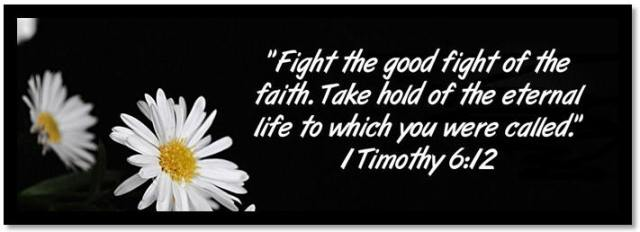 1 Tim 6-13 - Fight the good fight of faith - Eindtijd in Beeld