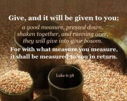 Lucas-6-38 - Give and it will be given to you - Pinterest