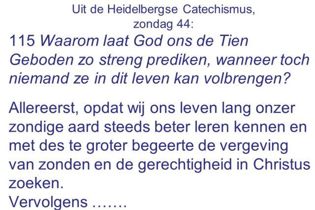 Catechismus - Zondag 44 - Waarom tien geboden streng prediken - SlidePlayer