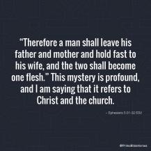 Efeziërs 5 31-32 - One flesh mystery - Bible verses