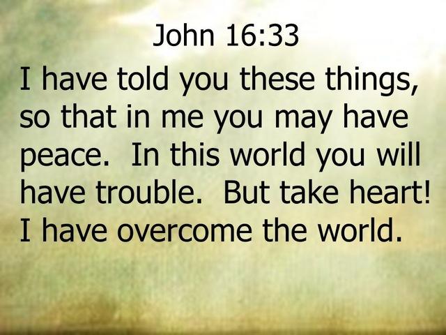 Johannes 16 33 - take heart - I have overcome the world - AliExpress
