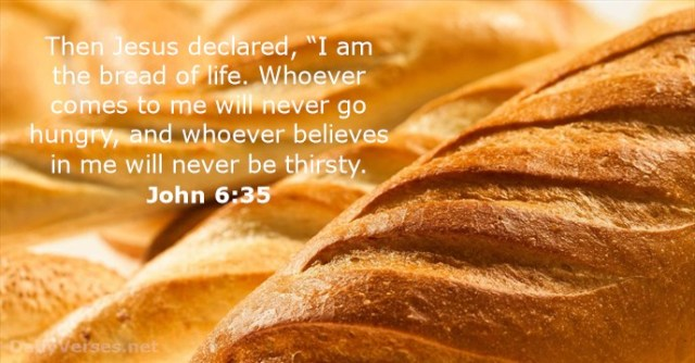 Johannes 6 35 - Bread of life - DailyVerses