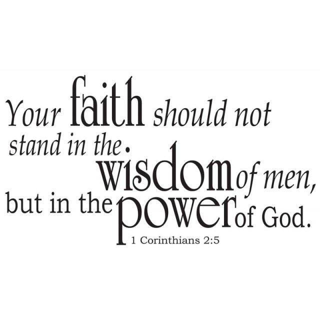 1 Korintiërs 2 5 - in the Power of God - Divine Walls