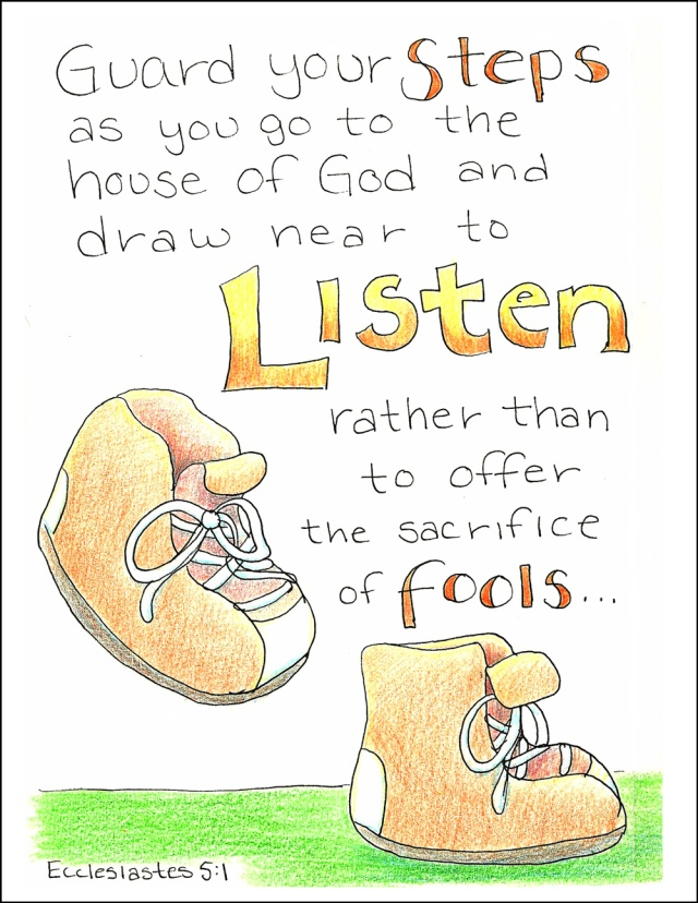 Prediker 4 17 - Guard your steps - Doodle Through The Bible