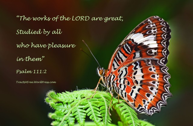 Psalm 111 2 - The works of the Lord are great - Christian Posters Free