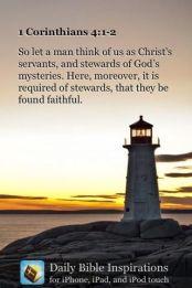 2 Korintiërs 4 1-2 - Servants found faithful - Pinterest