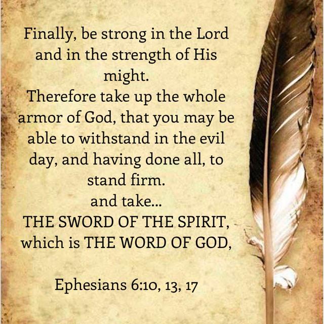 Efeziërs 6 10 13 17 - Word Armor of God - Pinterest