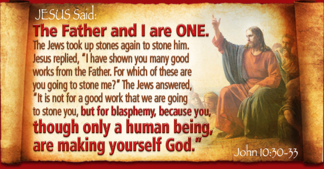 Johannes 10 30-33 - The Father and I are One - Pinterest