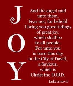 Lukas 2 10-11 - Joy - Looking to Jesus