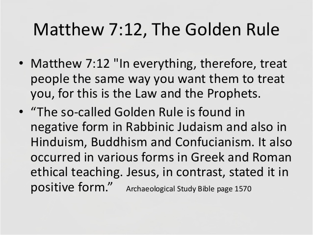 Matteüs 7 - The golden rule - Pinterest