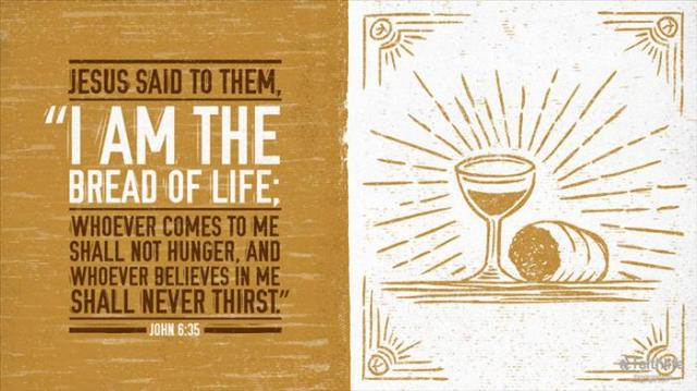 Johannes 6 32 - I am the Bread of Life - Biblia_com