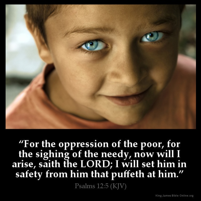 Psalm 12 5 - For the poor and oppressed - Inspirational Image