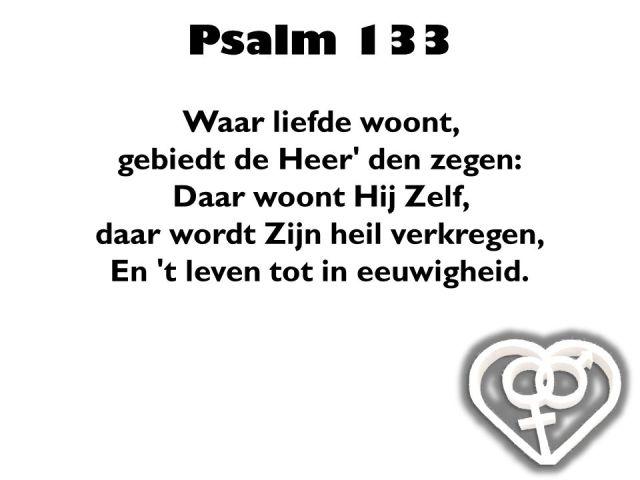 Psalm 133 - Waar liefde woont - SlidePlayer