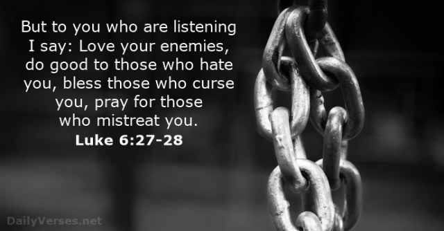 Lukas 6 27-28 - But to you who listen - DailyVersesnet