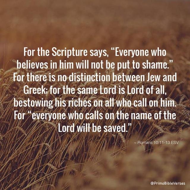 Romeinen 10 11-13 - everyone who calls on Him - Bible Verses
