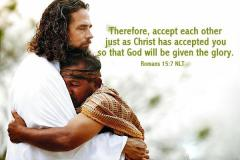 Romeinen 15 7 - Therefore, accept each other - TodaysBibleVerse