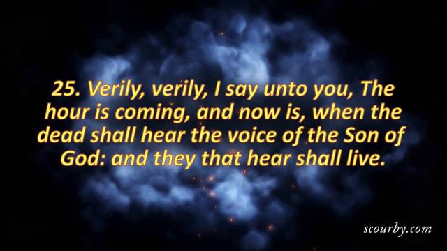 Johannes 5 25 - Verily, verily I say to you - YouTube